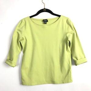 💎3/$25 Eileen Fisher Green Basic T Shirt Size PS